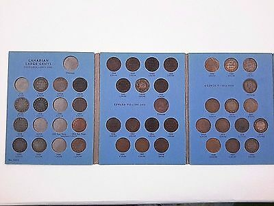 40 Canadian Large Cent Coins In Whitman Collection Book 1858 - 1920