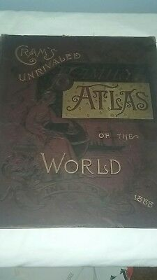 Crams 1888 World Atlas
