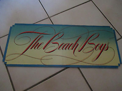 Vintage The Beach Boys 1981 Record Shop Promo Sign Advertisement Promotional