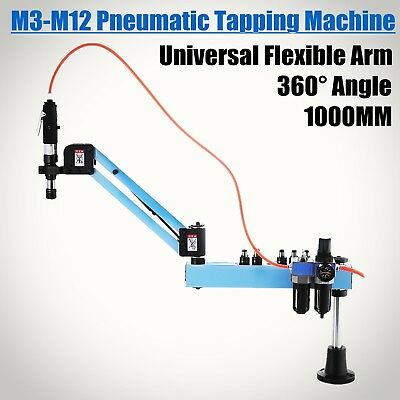 M3-M12 Pneumatic Tapping Drilling Machine Tapper Tool Motor 38mm Quick Collets