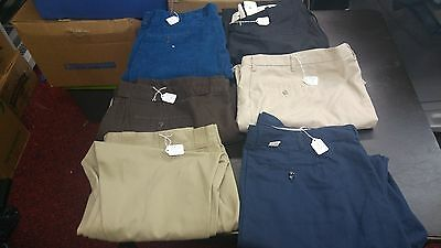 Men's Lot of 6 Big Man Casual Pants,Dress Various Sizes Brands,Styles For RESALE