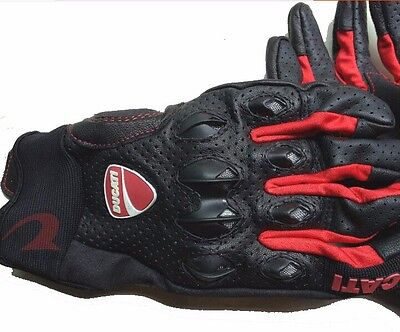 DUCATI Motorcycle Leather Gloves Protective Gear Performance Bike Racing