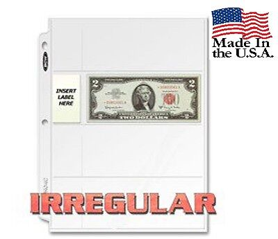 Box of 100 BCW 4-Pocket Irregular Currency Album Pages (#848)