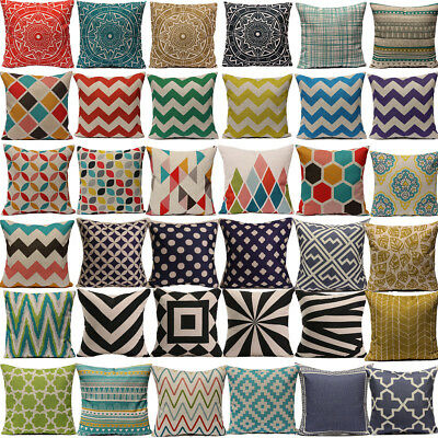 Vintage Geometric Home Decoration Cotton Linen Throw Pillow Case Cushion Cover