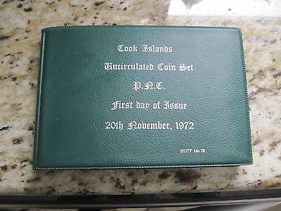 1972 Cook Islands HUTT COMMEMORATIVE uncirculated SET w/  case only 300 made