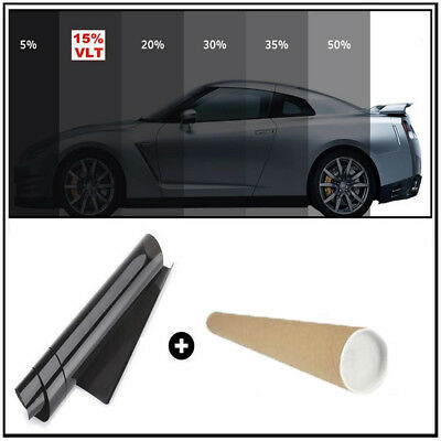 5% VLT 3*0.5m CAR WINDOW TINT GLASS FILM TINTING ROLL FEET SHADE HOME Limo Black