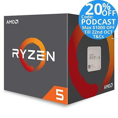 AMD 6 Core Ryzen 5 1600 Max 3.6GHz AM4 CPU Processor Wraith Spire YD1600BBAEBOX