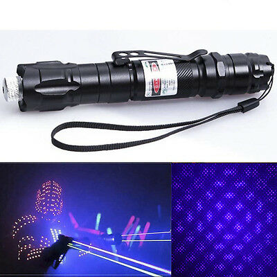 Blue Purple Professional 1mw 532nm 8000M  Laser Pointer Light Pen Lazer Beam