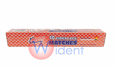 "11"" Long Matches 40 In Box Fireplace Grill Bbq Candle Camping"