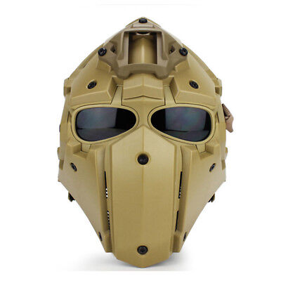 Helmet Airsoft Paintball CF Game Full Face Mask Tactical Protective 6 Colors