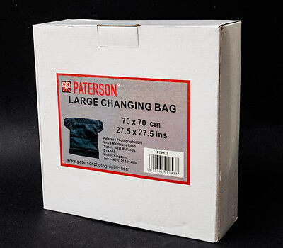 PTP125 Paterson Large Dark Change Bag, Film, 70x70cm, double zipper