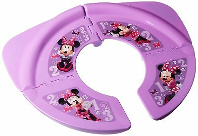 New Disney Minnie Mouse Folding COMPACT Travel Potty Seat Pink Restroom Kid Tool