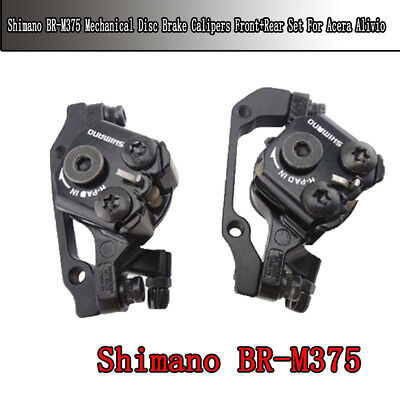 New Shimano BR-M375 Mechanical Disc Brake Calipers set  Acera Alivio Deore
