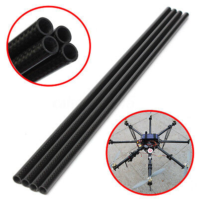 1/2/5X Roll Wrapped Carbon Fiber Tube Boom 3K 8x10X500mm for Multicopter RC Quad