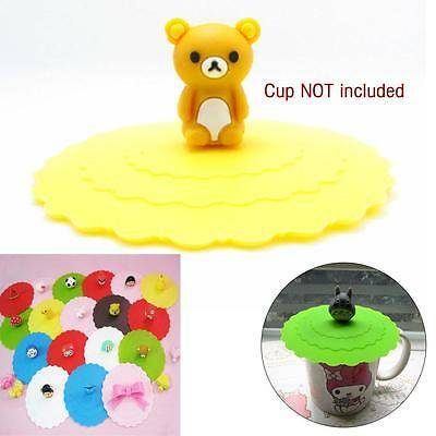 Coffe Tea Water Cup Silicone Rubber Seal Airtight Cover Cap Lip Color Random U*