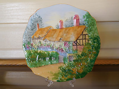 """Anne Hathaways Cottage"" Display or Cake Plate Made In England 1930s"