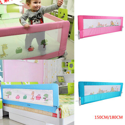 150/ 180cm Folding Child Toddler Bed Rail Safety Protection Guard Blue/ Pink New