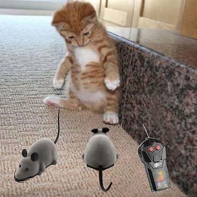Pet Wireless Remote Control Rat Mouse Toy Moving Mouse For Cat Playing Chew H*