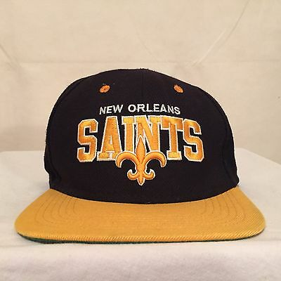 NFL New Orleans Saints Vintage Collection Wool Snapback by Mitchell & Ness
