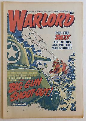 WARLORD Comic #105 - 25th September 1976