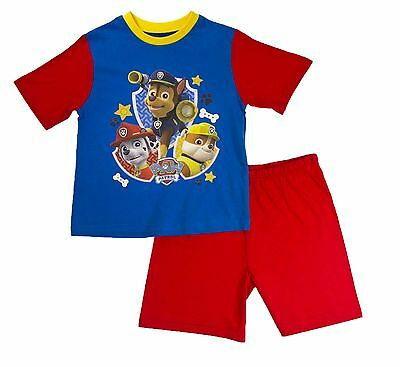 BNWT Toddler Boy Paw Patrol Short Pyjamas Chase Marshall Rubble Age 12-18 mths