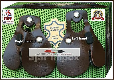 3 Layers Genuine Leather Archery Finger Tab RH & LH Archery Finger Protections