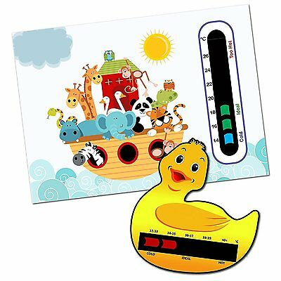 Ark Animals Baby Nursery Room Thermometer & Duck bath Thermometer -Home & Travel