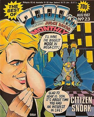 THE BEST OF 2000 AD JUDGE DREDD COMIC   August 1987 No. 23