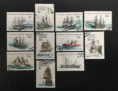 1979 to 1982 - Antarctic Ships - 11 Used Stamps (see description for details)