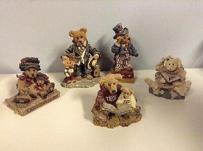 Boyds Bears & Friends Bearstone Collection Lot of 5 Figures 1993-97