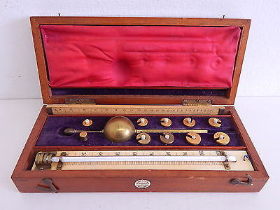 Antique 19th Century Original Sikes Hydrometer Glascow Scotland - Very Nice