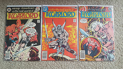 Warlord Comic Books Lot of 3 (DC)