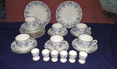 27 Piece Minton Art Nouveau Breafast Set - Large cups - Egg Cups- Plates-Dishes