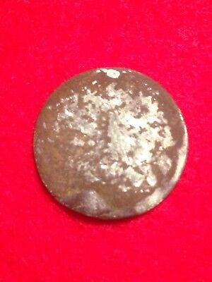 Spanish Silver 1/2 Real  Coin Found In Civil War Campsite