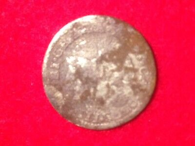Spanish Silver Coin 1/2 Real Found In Civil War Campsite