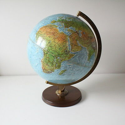 Vintage large raised relief Danish Scan Globe