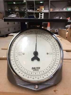 Vintage Retro Post Office Weighing Scales Salter