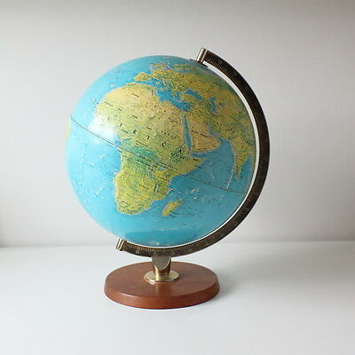 Vintage George Philip and Son raised relief Globe - 1971