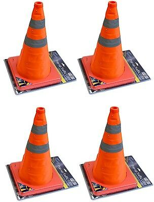 "4 x 16"" Portable Pop Up Safety Traffic Cone Collapsible Driving Road Safety New"