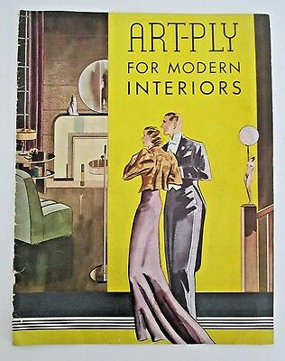 ART-PLY FOR MODERN INTERIORS, 1937 Illustrated Suggestion Book,  Art Deco