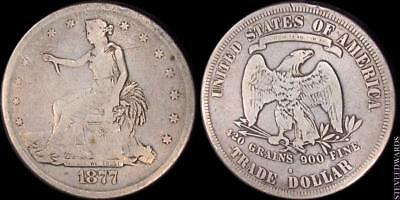 1877-S US Trade Dollar ** Circulated ** < Great US Type Coin >