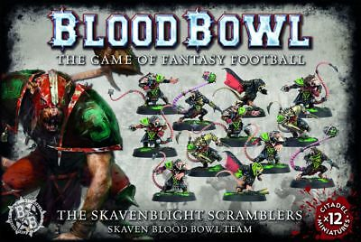 Blood Bowl - Skavenblight Scramblers Team Games Workshop Skaven Fantasy Football