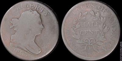 1807 Draped Bust US Half Cent ** Good ** < Rotated Die >