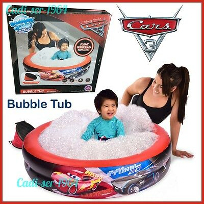 NEW Disney Cars 3 Bubble Tub Paddling Pool Foamy Bubbles in Minutes Water Tub