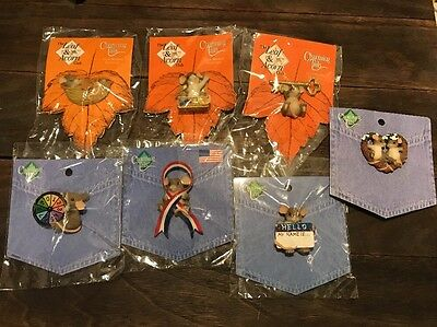 Charming Tails Mouse Lapel Pin With Club Member Exclusives Lot of 7 Pins New