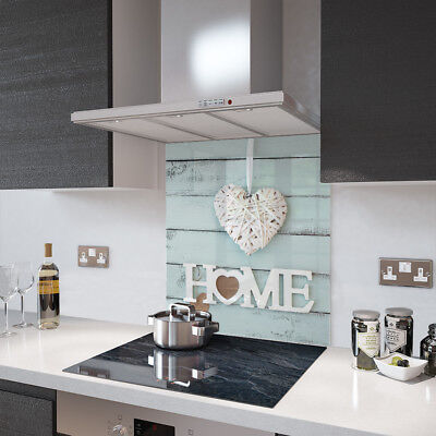 Home Is Where The Heart Is - Glass Splashback - 90cm Wide x 65cm High