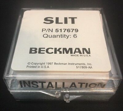 Beckman Slit P/N 517679 Cell Holder- New In Box~ Lot Of 6~ Free Shipping