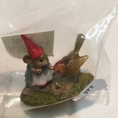 Wee Forest Folk Mice MRS GNOME & BIRD mouse M-392 garden