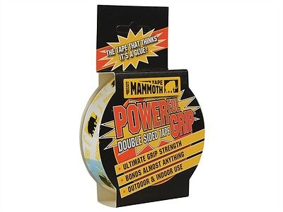 Everbuild Mammoth Powerful Grip Tape Double Sided Strong Adhesive 12Mm Sellotape