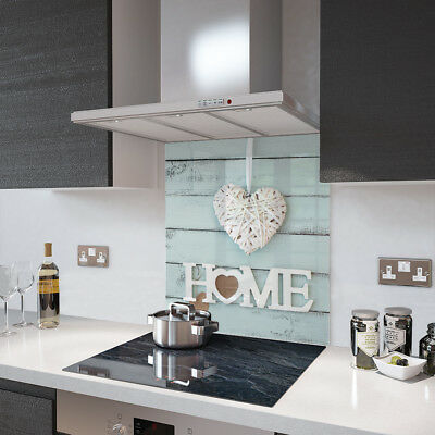 Home Is Where The Heart Is - Glass Splashback - 90cm Wide x 80cm High